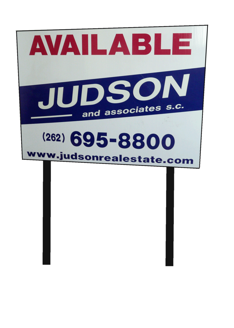 Judson billboard with phone number and website url